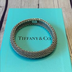 Tiffany & Co. mesh Somerset Dome silver bracelet 7